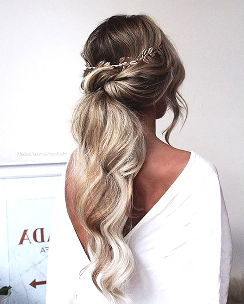 Hairstyles Braided Ponytail Wedding Hairstyles 2019