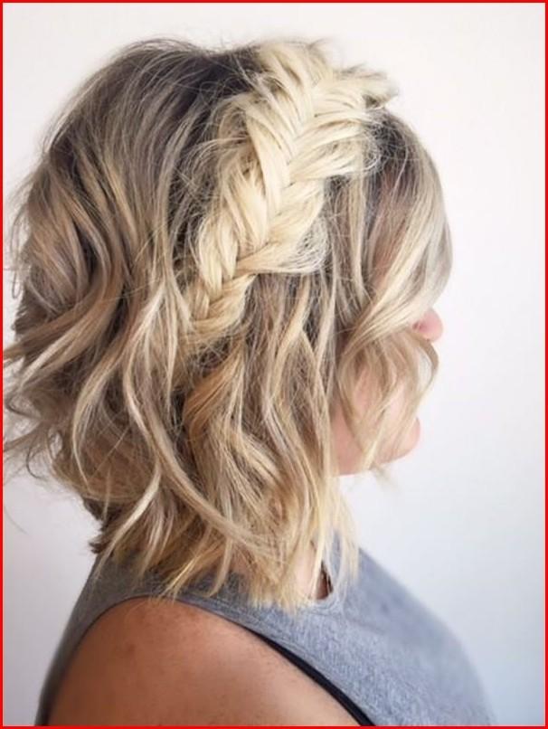 Fishtail Braid Hairstyles For Short Hair Braided