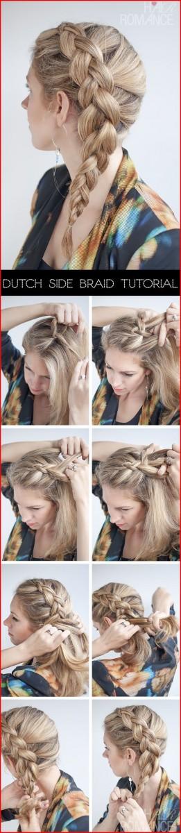 Dutch Braid Hairstyles Tutorial Hairstyles Braided