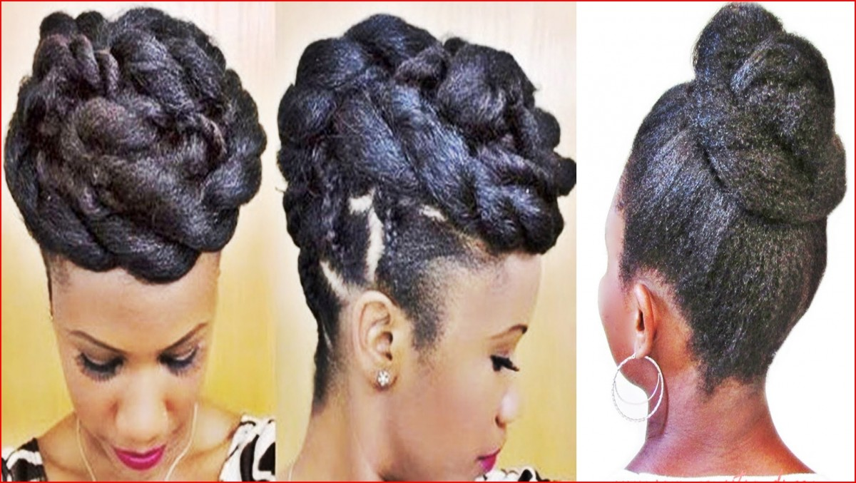 Hairstyles Braided Casual Updo Hairstyles for Black Women