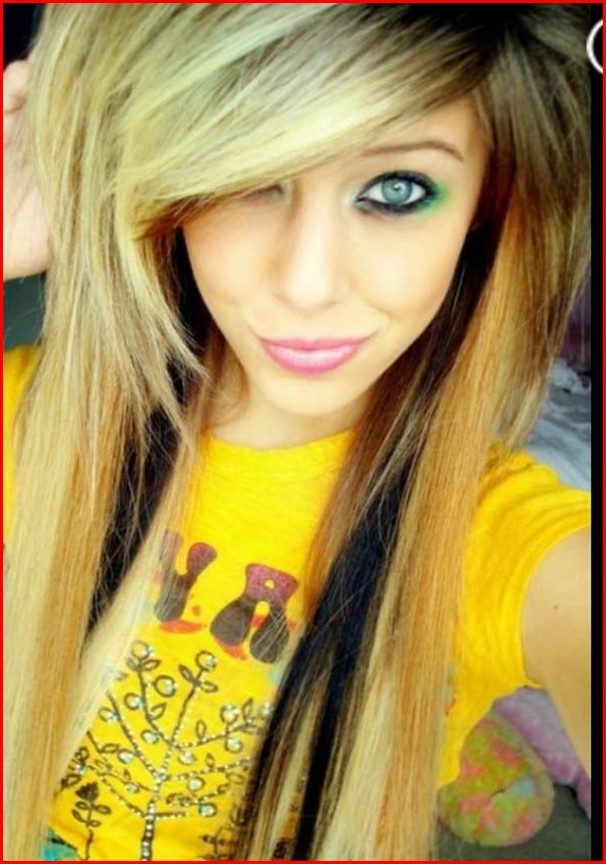 Hairstyles Braided Being Wild and Cute with Emo Hairstyles for Girls