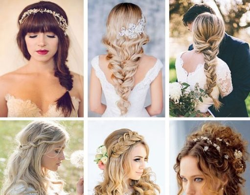 Flower Wedding Hair Style