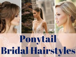 Ponytail Bridal Hairstyles 2019